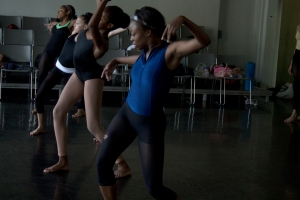 Students practice at the Dance Alloy studio in Friendship.