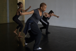 Greer Reid and her students Rebekah and Brianne practice at the Dance Alloy studio in Friendship.