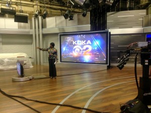 Olga George gives instruction to students in the studio of KDKA News on July 30, 2016. Photo taken by Kyle Smith.